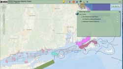 GIS display of Long Island data.