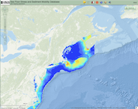 Veiwing bathymetry map.